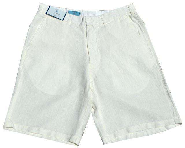 Men's Shorts - Lighthouse Linen Shorts In White By Castaway Clothing