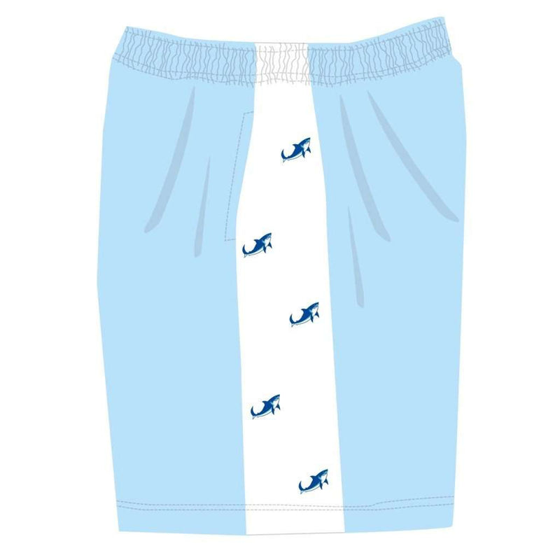 Limited Edition Shark Week Shorts in Carolina Blue by Krass & Co.