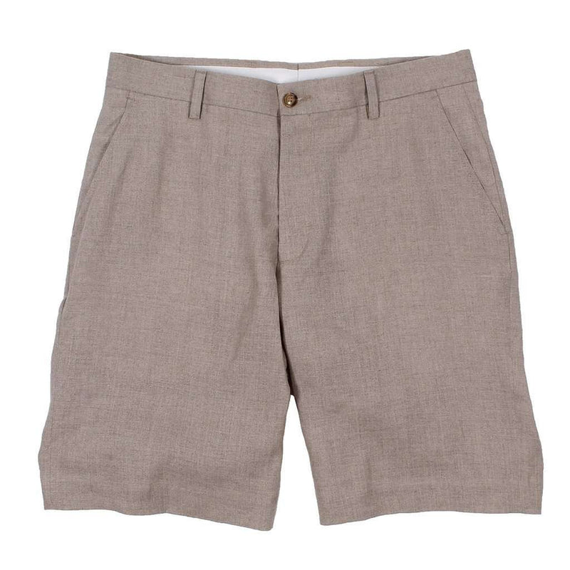 Men's Shorts - Linen Shorts In Khaki By Country Club Prep - FINAL SALE