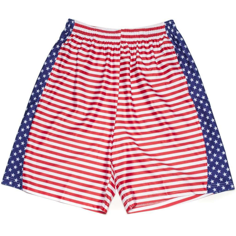 Men's Shorts - Men's Sam Shorts In Red, White And Blue By Krass & Co.