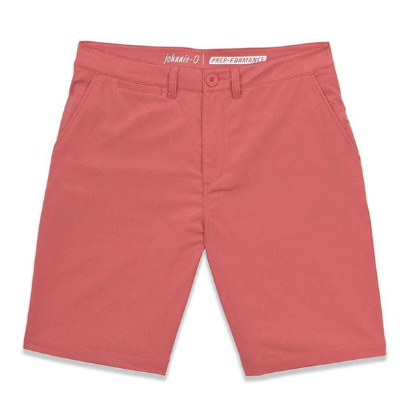 "Men's Shorts - Mulligan ""Prep-Formance"" Shorts In Punch By Johnnie-O"