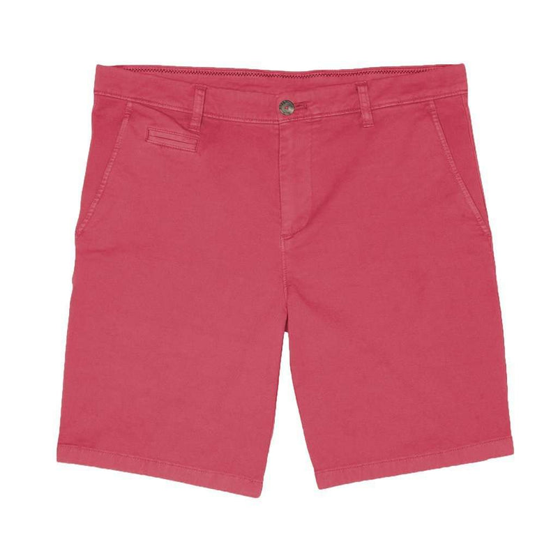 Men's Shorts - Neal Stretch Twill Shorts In Malibu Red By Johnnie-O