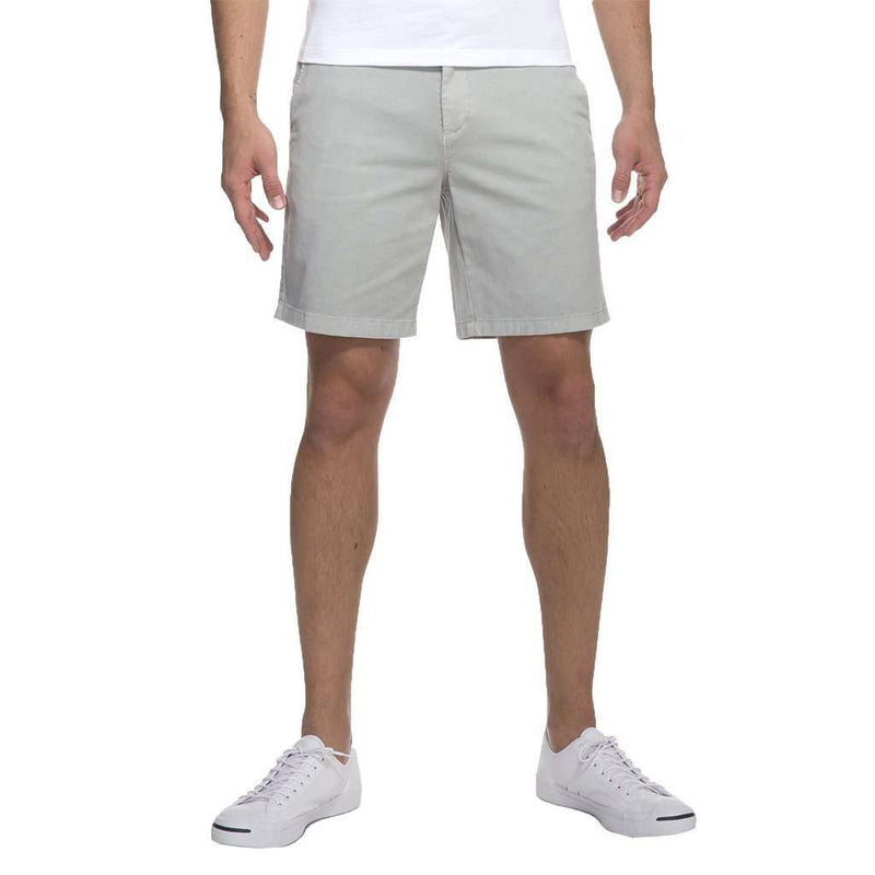 Men's Shorts - Neal Stretch Twill Shorts In Nimbus Gray By Johnnie-O