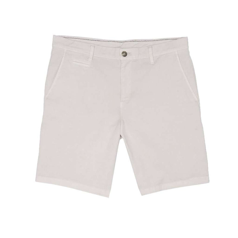 Men's Shorts - Neal Stretch Twill Shorts In Stone By Johnnie-O