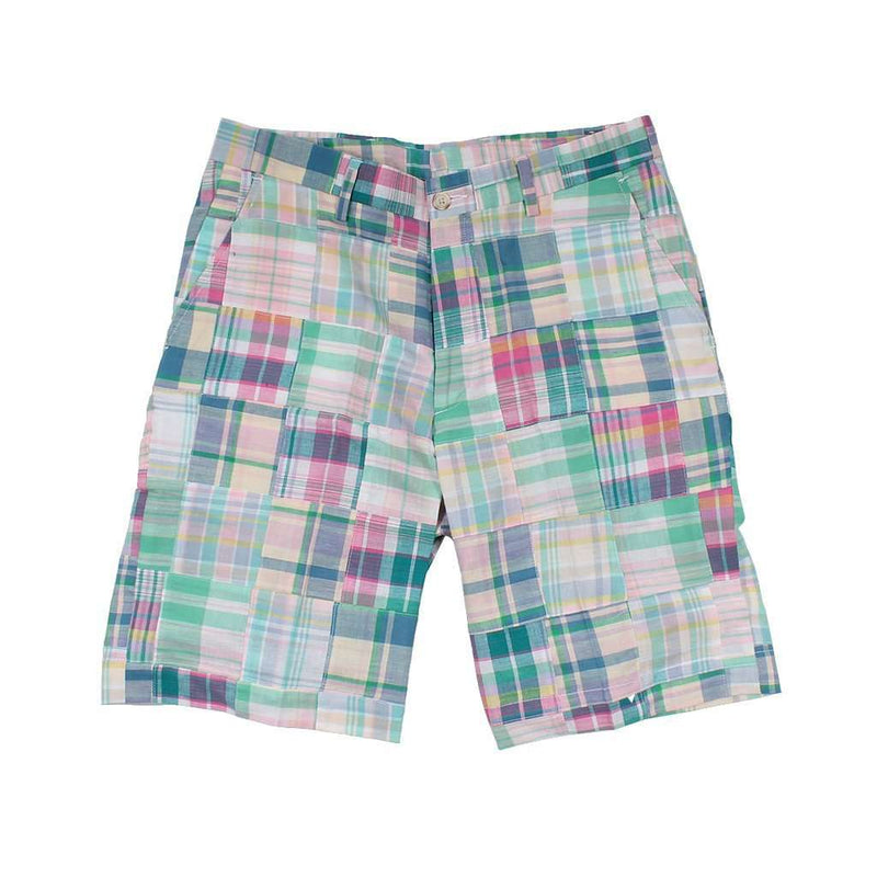 Men's Shorts - Pastel Patchwork Madras Shorts By Country Club Prep - FINAL SALE