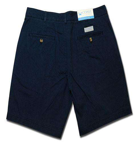 Men's Shorts - Pawleys Twill Shorts In Blue Moon By Coast - FINAL SALE