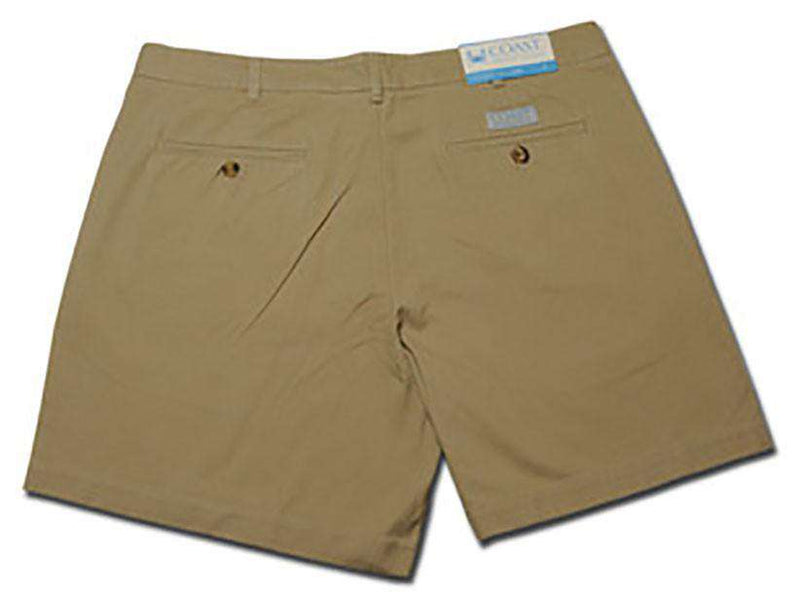 Men's Shorts - Pawleys Twill Shorts In Khaki By Coast - FINAL SALE