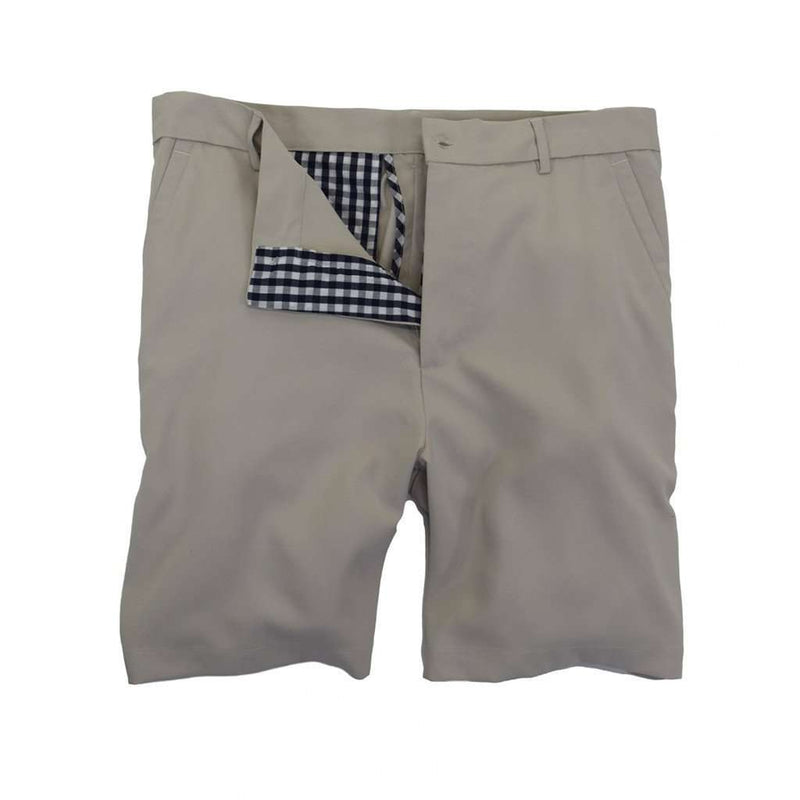 Men's Shorts - Performance Club Short In Grey By Southern Proper - FINAL SALE