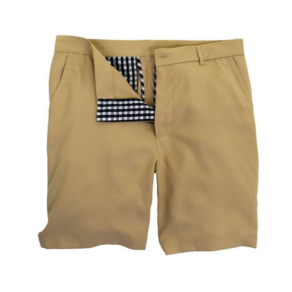 Men's Shorts - Performance Club Short In Stone By Southern Proper