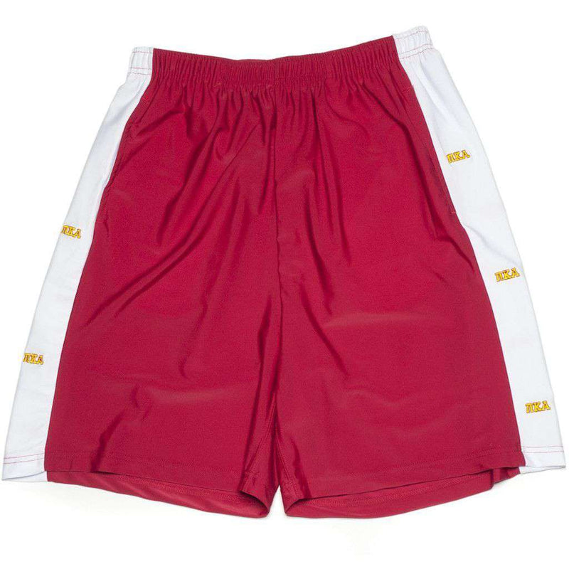 Men's Shorts - Pi Kappa Alpha Shorts In Garnet By Krass & Co. - FINAL SALE