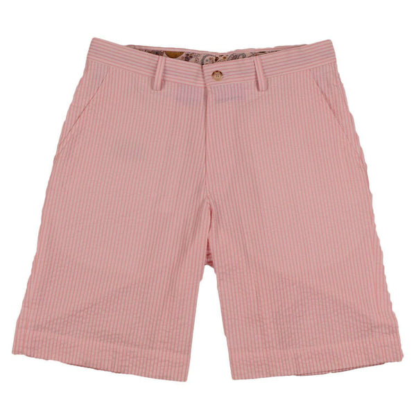 Pink Seersucker Shorts by Country Club Prep