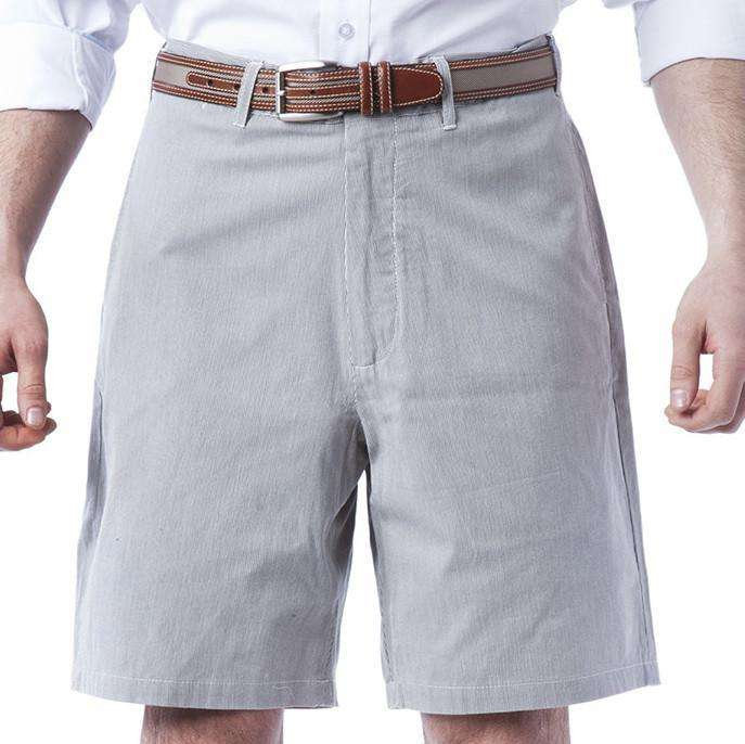 Men's Shorts - Pinstripe Shorts In Nantucket Navy By Castaway Clothing