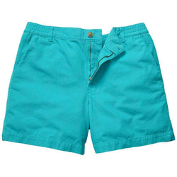 Men's Shorts - Preppy Camp Short In Turquoise By Southern Proper - FINAL SALE