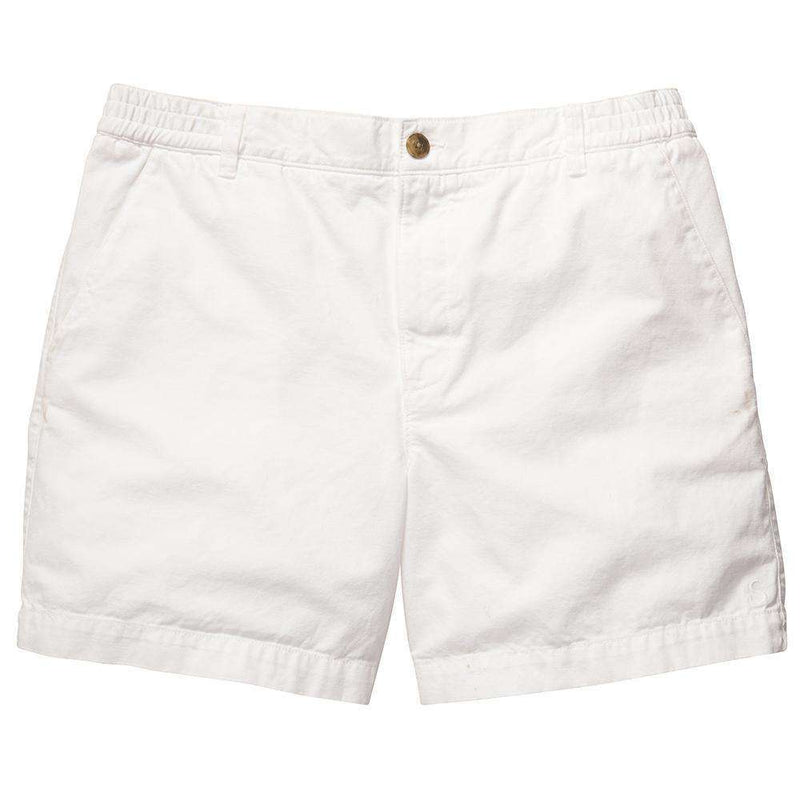 Men's Shorts - Preppy Camp Short In White By Southern Proper