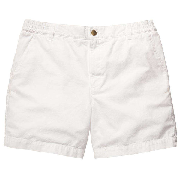 Preppy Camp Short in White by Southern Proper