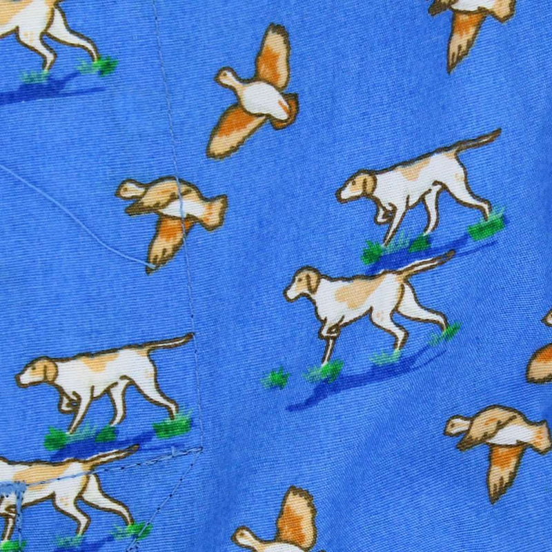 Men's Shorts - Quail Hunt Sporting Boxers In Blue By Bird Dog Bay
