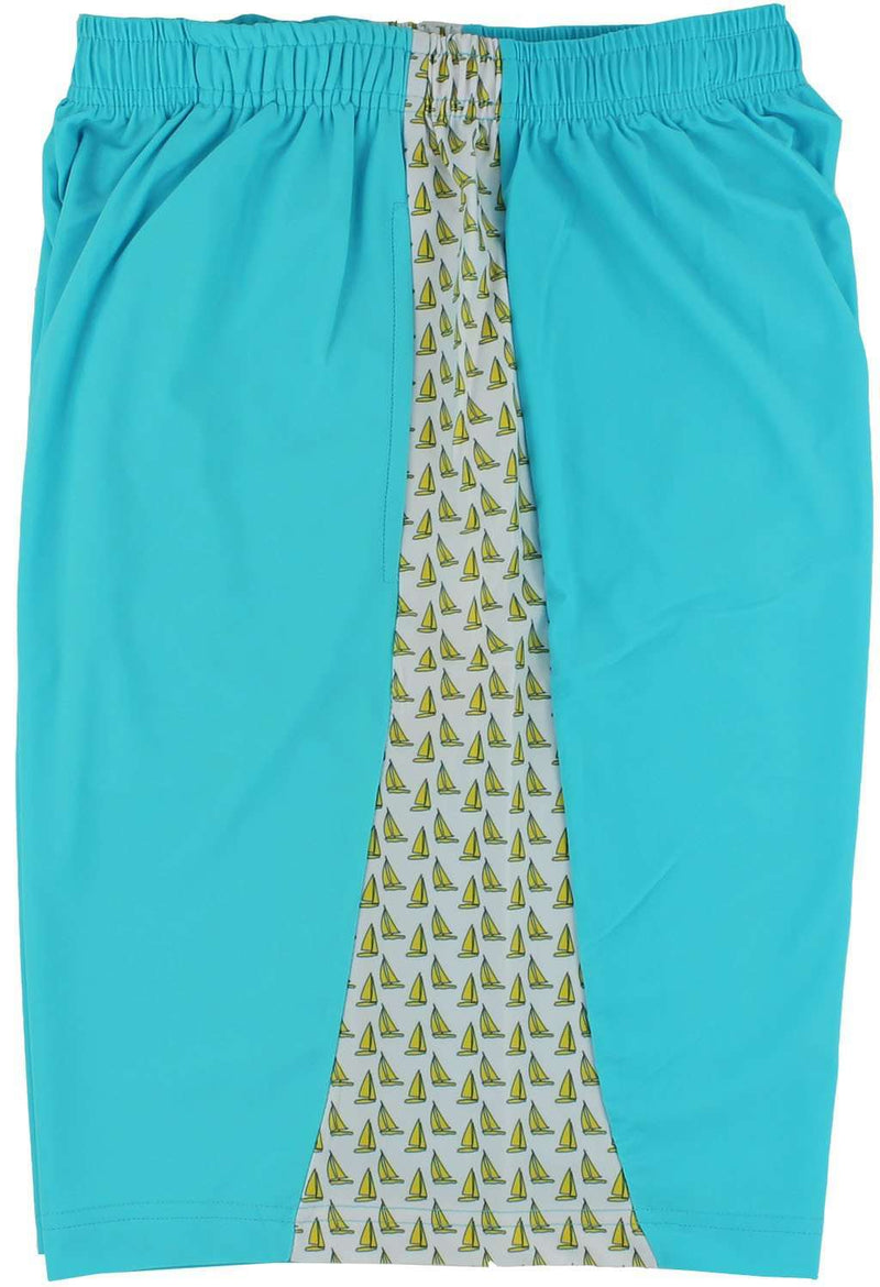 Men's Shorts - Regatta Shorts In Turquoise By Krass & Co. - FINAL SALE