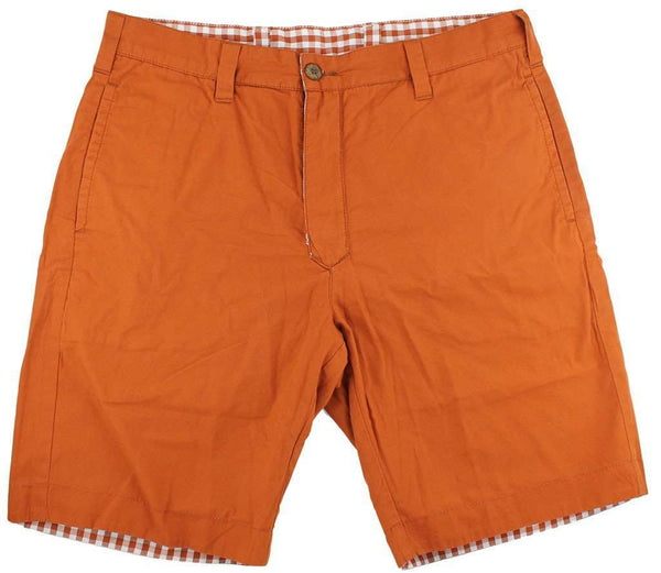 Reversible Shorts in Burnt Orange and White Gingham by Olde School Brand - FINAL SALE