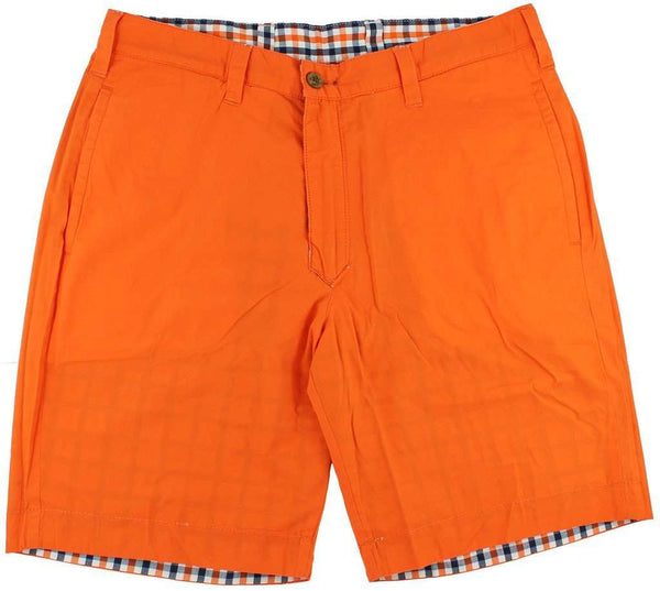 Reversible Shorts in Orange and Navy Madras and Solid by Olde School Brand - FINAL SALE