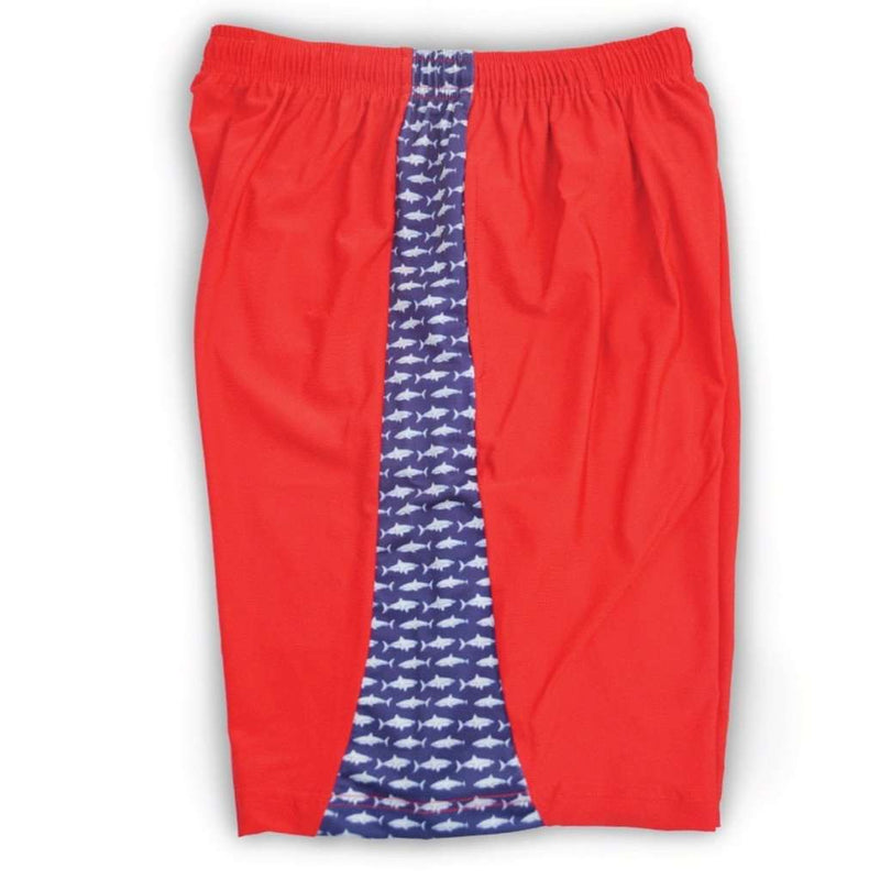 Men's Shorts - Sea King Shark Shorts In Red By Krass & Co.