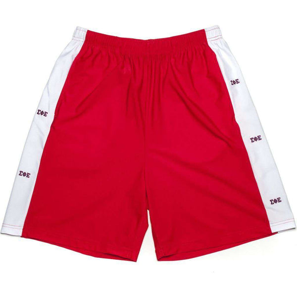 Men's Shorts - Sigma Phi Epsilon Shorts In Red By Krass & Co. - FINAL SALE