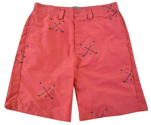Men's Shorts - Stanwich Active Fit Short In Red By Liquid Flow