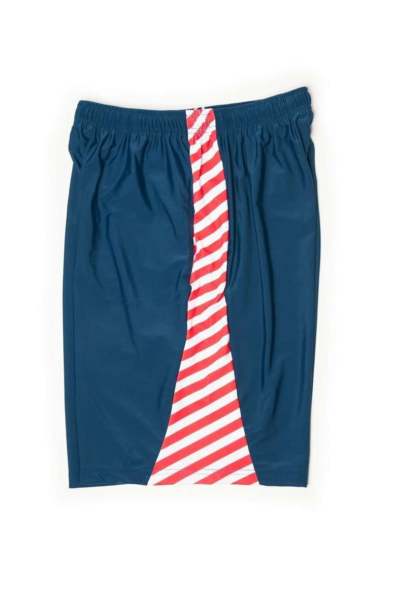 Men's Shorts - Stars And Stripes Shorts In Navy Blue By Krass & Co.