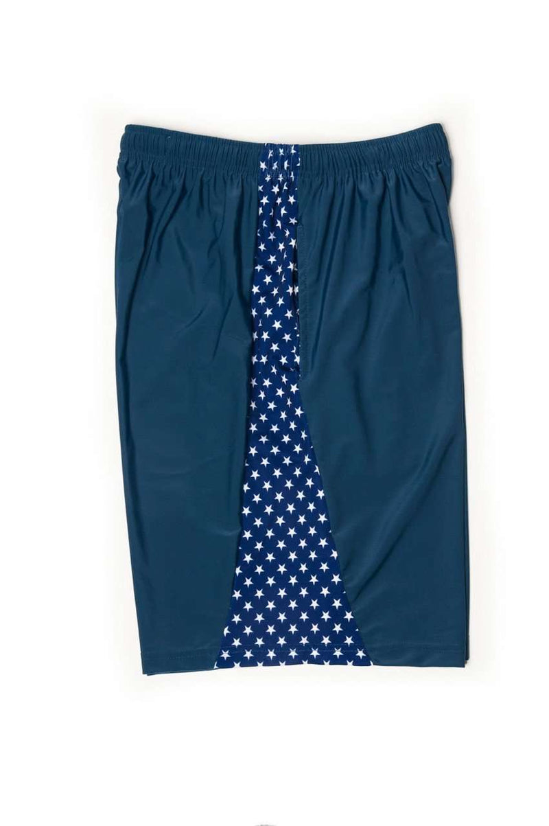 Stars and Stripes Shorts in Navy Blue by Krass & Co.
