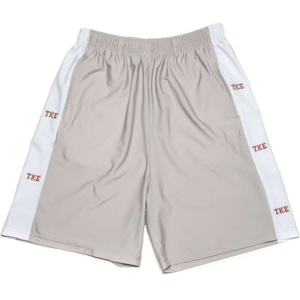 Men's Shorts - Tau Kappa Epsilon Shorts In Silver Grey By Krass & Co. - FINAL SALE