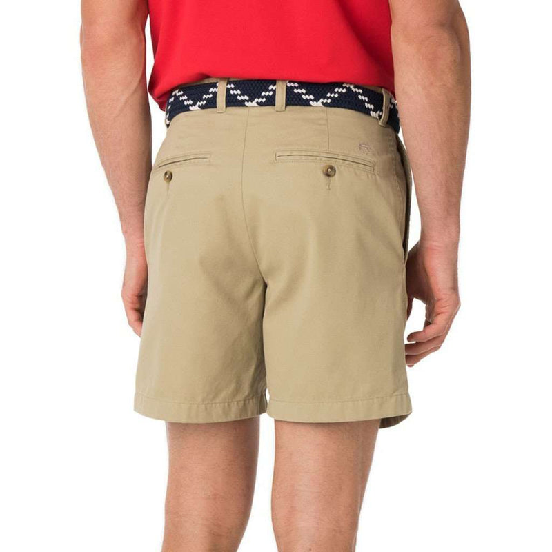 "The 7"" Skipjack Short in Sandstone Khaki by Southern Tide"