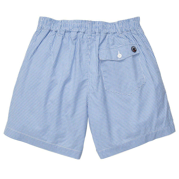 The Gingham Short in Bocce Blue by Southern Proper - FINAL SALE