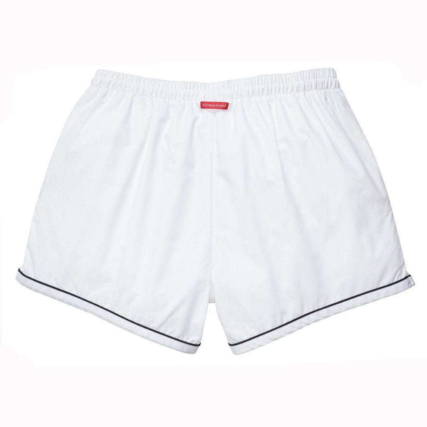 The Hackett Short in White with Navy by Southern Proper - FINAL SALE