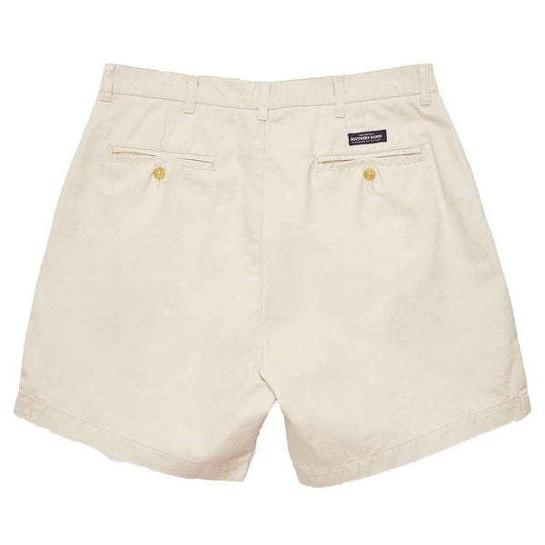 "Men's Shorts - The Regatta 6"" Short Flat Front In Audubon Tan By Southern Marsh"