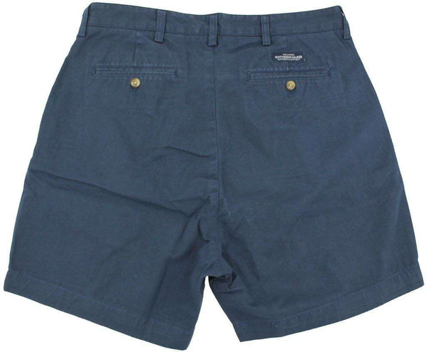 "The Regatta 6"" Short Flat Front in Colonial Navy by Southern Marsh - FINAL SALE"
