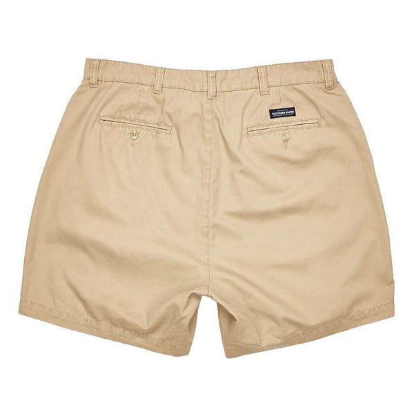 "Men's Shorts - The Regatta 6"" Short Flat Front In Khaki By Southern Marsh"
