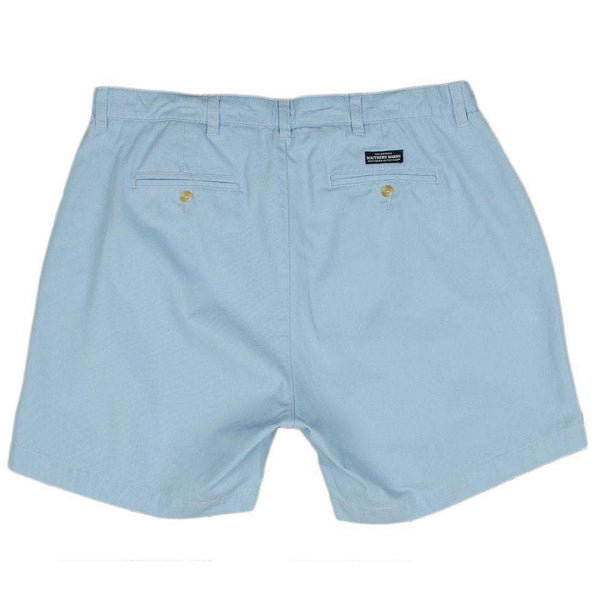"The Regatta 6"" Short Flat Front in Light Blue by Southern Marsh - FINAL SALE"