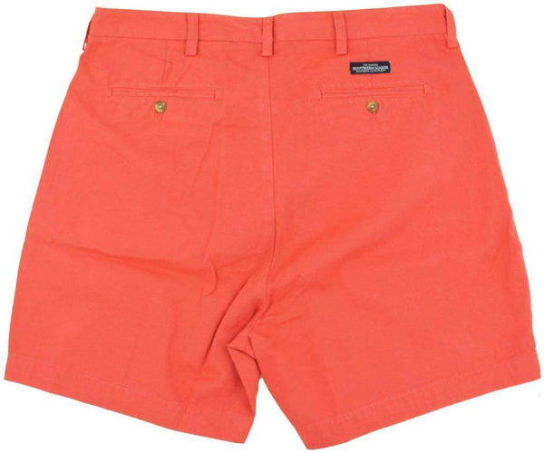 "The Regatta 6"" Short Flat Front in Vintage Red by Southern Marsh - FINAL SALE"