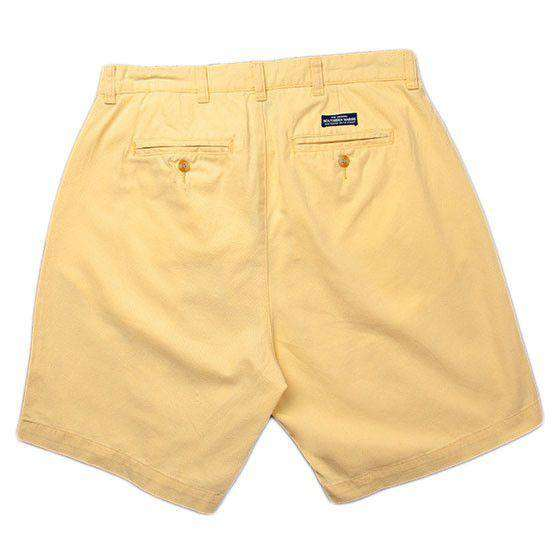 "The Regatta 6"" Short Flat Front in Yellow by Southern Marsh - FINAL SALE"