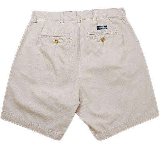 "Men's Shorts - The Regatta 8"" Short Flat Front In Audobon Tan By Southern Marsh"