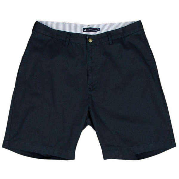 "Men's Shorts - The Regatta 8"" Short Flat Front In Colonial Navy By Southern Marsh"