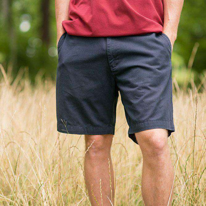 "The Regatta 8"" Short Flat Front in Colonial Navy by Southern Marsh - FINAL SALE"