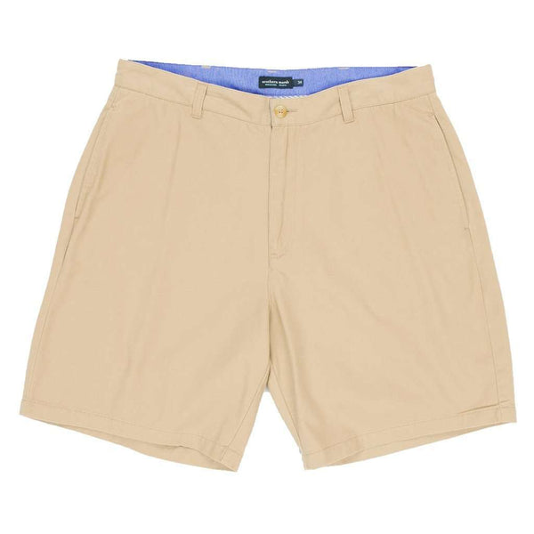 "Men's Shorts - The Regatta 8"" Short Flat Front In Khaki By Southern Marsh"