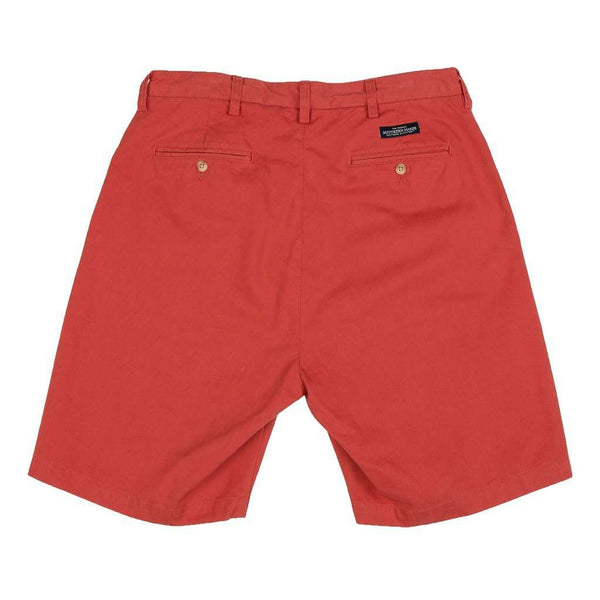 "The Regatta 8"" Short Flat Front in Vintage Red by Southern Marsh - FINAL SALE"