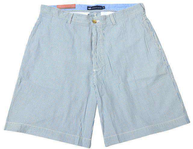 "Men's Shorts - The Regatta 8"" Short In Blue Seersucker By Southern Marsh"