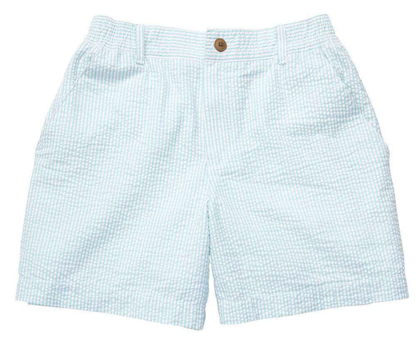 The Seersucker Short in Light Green by Southern Proper - FINAL SALE