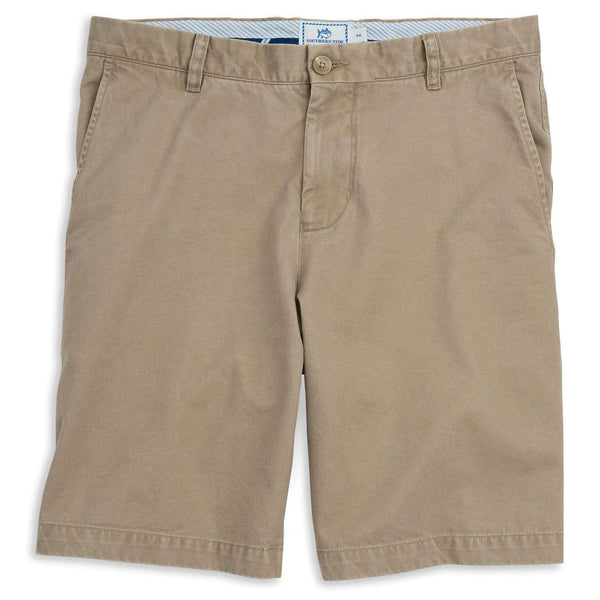 "Men's Shorts - The Skipjack 9"" Short In Sandstone Khaki By Southern Tide"