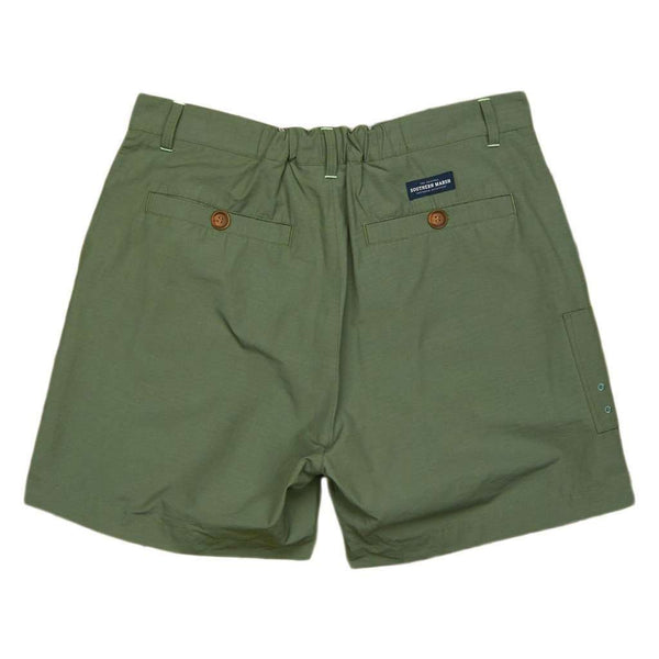 Men's Shorts - The Tarpon Flats Fishing Short In Dark Green By Southern Marsh