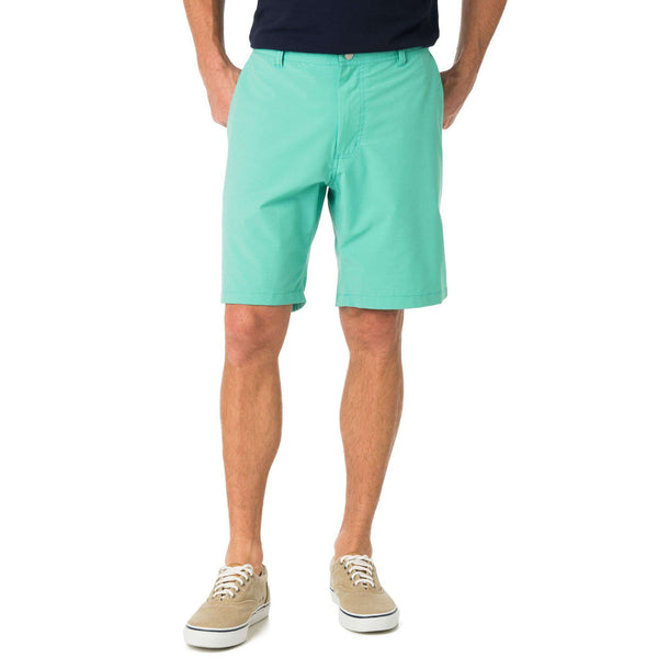 Men's Shorts - Tide To Trail Performance Shorts In Heron Green By Southern Tide