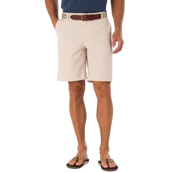 Men's Shorts - Tide To Trail Performance Shorts In Stone By Southern Tide
