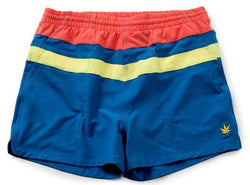 Top Stripe Match Shorts in Bright Blue by Boast